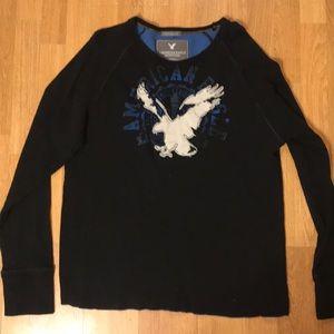Large American eagle men's long sleeve shirt